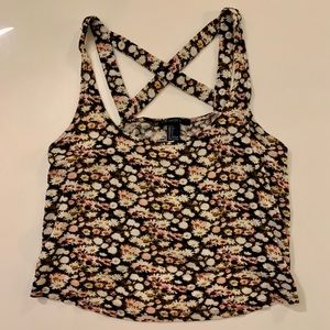 Forever 21 S Floral Crop Top